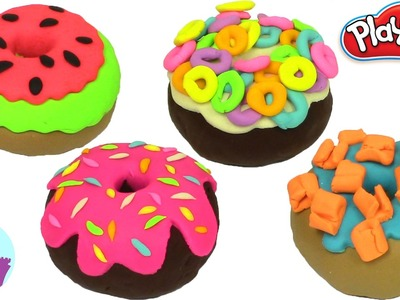 Diy Play Doh How to Make Donuts Rainbow Cake Toys Plastilina y Juguetes Castle Toys