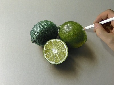 Drawing of some limes - How to draw 3D Art