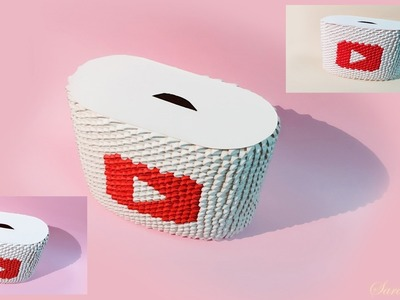 How to make 3d origami money box 6
