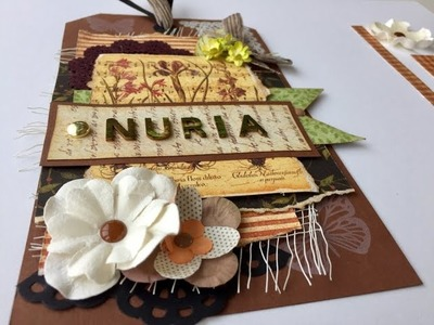 How to make a Scrapbook Tag