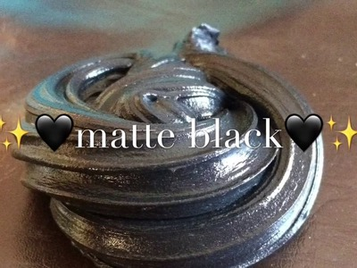 ✨???? How To Make Matte Black Slime ????✨
