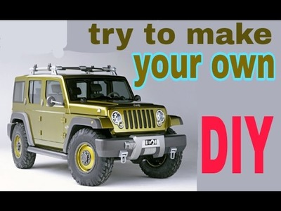 How To Make Roving (Hummer Jeep) at Home