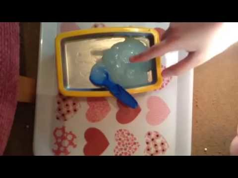 How to make slime without glue that you can hold
