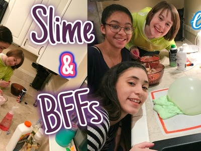 Making Slime and Hanging with my BFFs | VLOG | In Mad's World