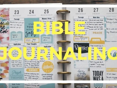Plan | Newbie Happy Planner Bible Journaling | Collab with Happy2Plan and Oddeeii Obsesses