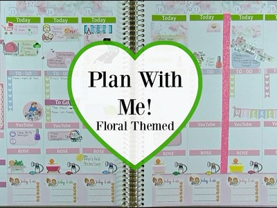 Plan With Me | Floral Themed (Recollections LARGE Planner)