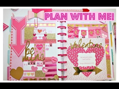 Plan With Me.Valentine's Day Theme. Happy Planner
