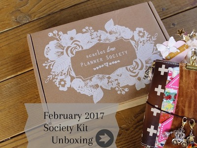 Planner Society Kit (Unboxing) Feb. 2017