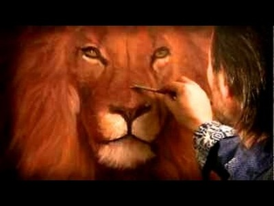"""Portrait of a lion"" How to paint animals easy way. Oil painting tutorial. Acrylic painting"