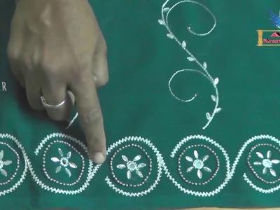 Satin Stich Hand Embroidery Designs | Stump Work | Beaded Works | Satin Ribbon Stitching Designs