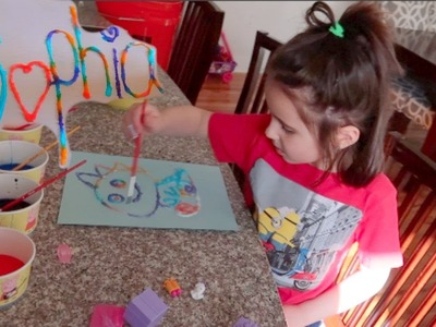 AWESOME SALT PAINTING CRAFT FOR KIDS!