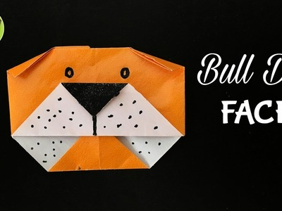 BULL DOG FACE - Origami Tutorial by Paper Folds - DIY