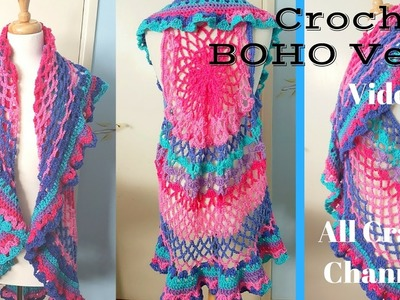 Crochet Boho Style Vest Mystery CAL (revised) Video 2