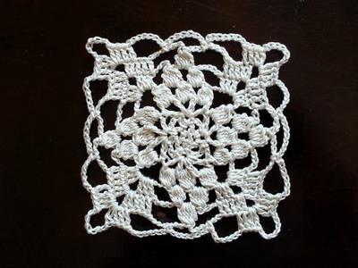 Crochet Square Motif - Vines Mini Doily Pattern