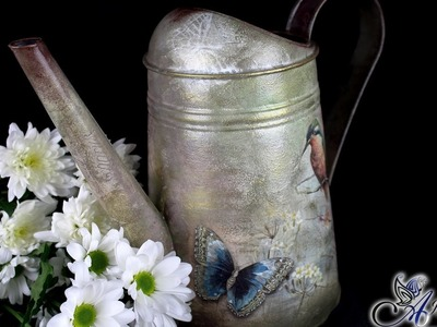 Decoupage Tutorial - Watering Can - DIY Tutorial
