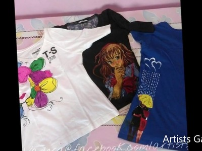 Design t-shirt | fabric art |DIY |painting on t-shirt with acrylic colors | Easy steps
