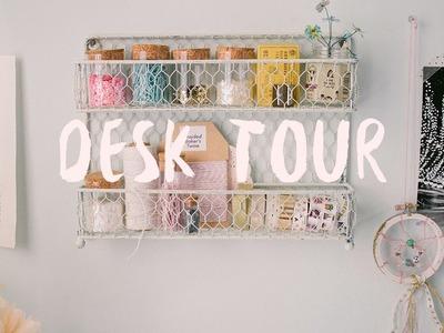 Desk Tour + Craft Organization