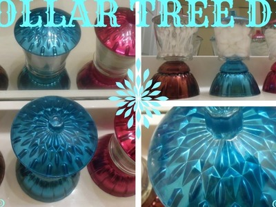 DIY BEAUTIFUL COLORED MIRROR JAR SET -DOLLAR TREE. MICHAELS CRAFT