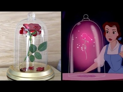DIY Beauty and the Beast Enchanted Rose | No Drilling Easy DIY Tutorial