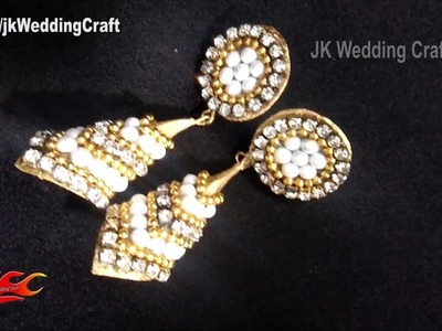 DIY Bridal Earrings | How to Paper Earrings | JK Wedding Craft 122