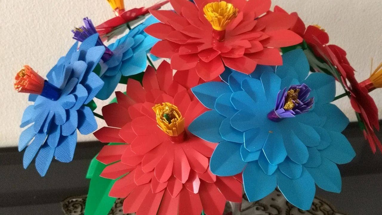 DIY Crafts - How to Make Colorful Flower Bouquet out of plastic sheets + Tutorial !