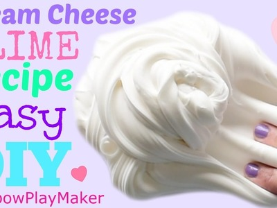 DIY CREAM CHEESE SLIME!!! EASY HOW TO RECIPE TUTORIAL VIDEO