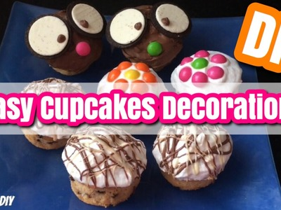 DIY: Cupcakes Decoration 3 ways! | Super Easy !! | ORDANI DIY