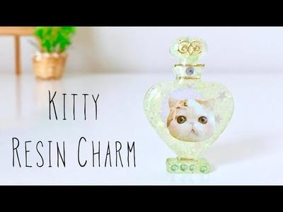 DIY Cute Kitty Resin Charm