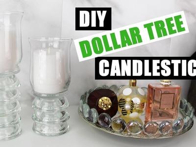 DIY DOLLAR TREE CANDLESTICKS | Dollar Store DIY Candle Holders Decor | DIY Room Decor