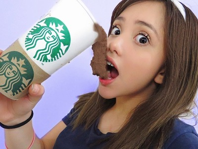 DIY EDIBLE STARBUCKS SLIME!! (ONLY 2 INGREDIENTS)