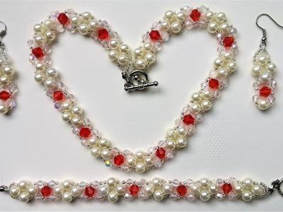 DIY Elegant Jewelry set . Easy beading instructions