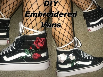 DIY EMBROIDERED VANS | Tumblr & Instagram Inspired