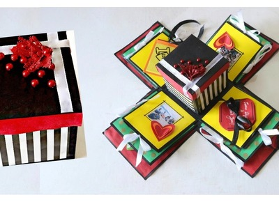 DIY Explosion Gift Box for Beginners | How to make the Basic Structure of Explosion Box