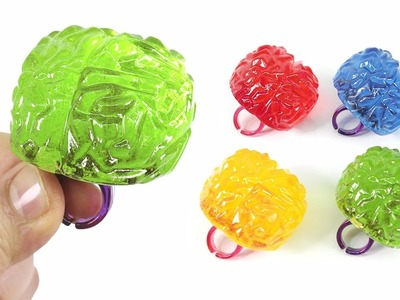 DIY Giant Brain Rings Candy ! Make Colors Ring Pop ~ Brain Shaped Lollipop