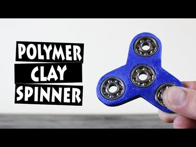 DIY Hand Spinner Fidget Toy from Polymer Clay