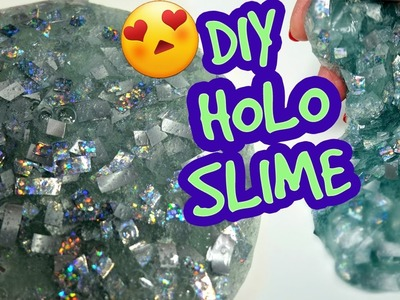DIY Holo (holographic) slime! How to make awesome holographic slime