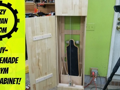 DIY -  homemade gym in a cabinet