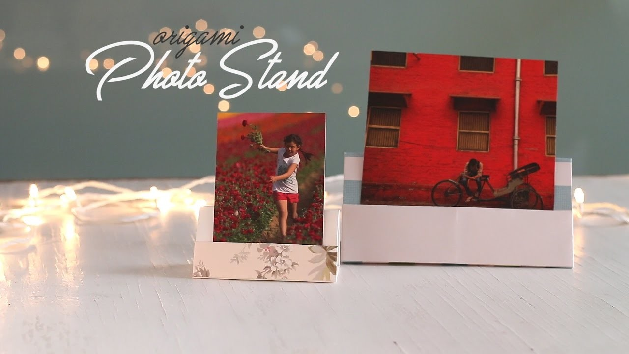DIY: How to make a cute Photo Stand