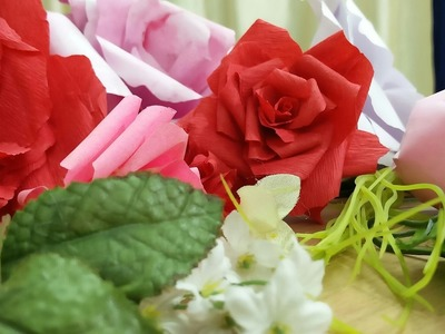 DIY: How to make beautiful roses with paper (In Hindi)