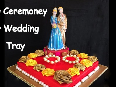 DIY - How to make decorative ring ceremoney. wedding tray.plate? Wedding decoration ideas.