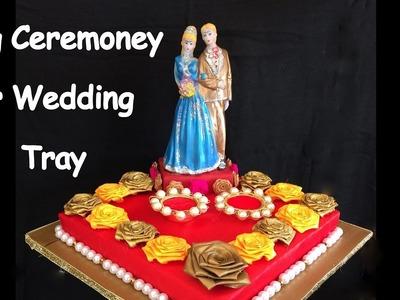 DIY - How to make decorative ring ceremoney. wedding tray.plate? Wedding decoration ideas.