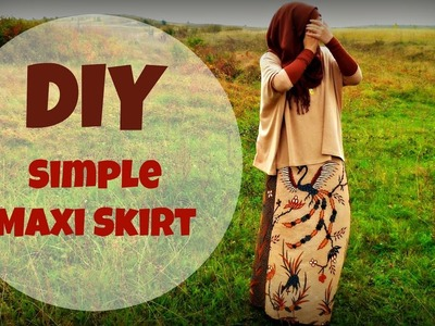 DIY MAXI SKIRT from scrap fabric | Sewing For Beginners