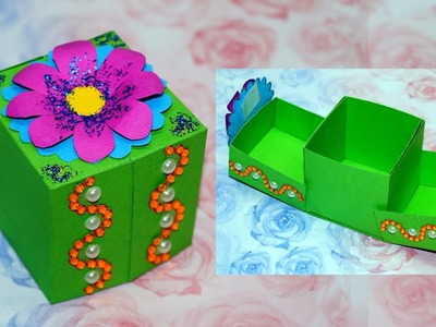 DIY paper crafts idea - gift box ideas craft. Gift box making. DIY box gift ideas. Julia DIY