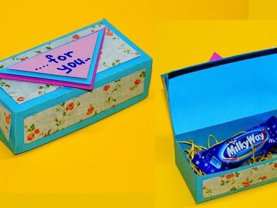 DIY paper crafts idea - gift box ideas craft. How to make gift box easy. Gift box making. Julia DIY