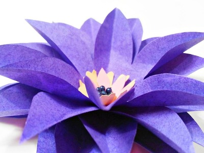 DIY paper flower Water Lily for wall backdrop decoration.arts and crafts flowers easy for kids