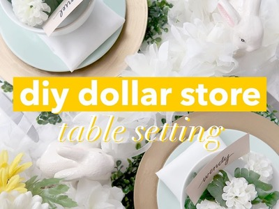 DIY Table Setting from the dollar store! | withwendy | CBC Life