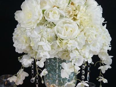 DIY :Tutorial Heavenly Dream Winter Wedding Centerpiece