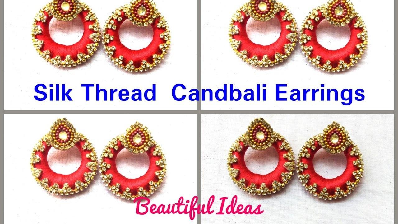 DIY.Tutorial. How to make Silk thread candbali Earrings at home