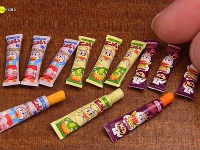 DIY Umaibo Style Miniature Japanese Snack (Fake food) うまい棒風ミニチュア駄菓子作り