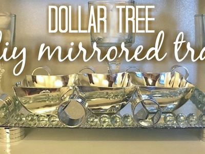 Dollar tree Diy Mirrored tray | HOME DECOR